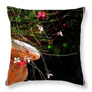 Filigree 4 In A Frame Throw Pillow