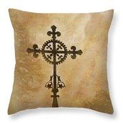 Filigree Cross The Forgotten Series 10 Throw Pillow