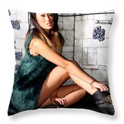 Filipino Woman Throw Pillow