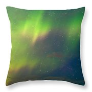 Filled With Aurora Throw Pillow