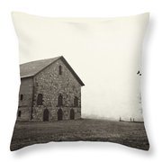 Filley Stone Barn 2 Throw Pillow