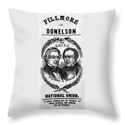 Fillmore Campaign, 1856 Throw Pillow