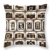 Film Camera Proofs Throw Pillow