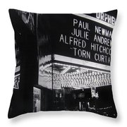 Film Homage Alfred Hitchcock Torn Curtain 1966 Orpheum Theater St. Paul Minnesota 1966 Throw Pillow