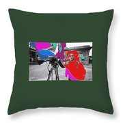 Film Homage Andy Warhol Lonesome Cowboys Old Tucson Arizona 1968-2013 Throw Pillow
