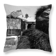 Film Homage Barbara Payton Bride Of The Gorilla 1951 Gorilla Mascot July 4th Mattress Sale 1991 Throw Pillow