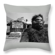 Film Homage Barbara Payton Bride Of The Gorilla 1951 Gorilla Pitchman Tucson Arizona July 4th 1991 Throw Pillow