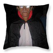 Film Homage Bela Lugosi Dracula 1931 Halloween Party Casa Grande Arizona 2005 Throw Pillow