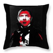 Film Homage Bela Lugosi Mark Of The Vampire 1935-2013 Throw Pillow