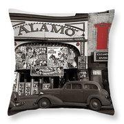 Film Homage Bela Lugosi Shadow Of Chinatown 1936 John Vachon Fsa Alamo Theater Washington D.c. 2010 Throw Pillow