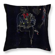 Film Homage Buster Brown Series Child In Brown Outfit Tucson Arizona Circa 1890-2008  Throw Pillow