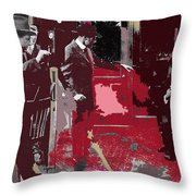 Film Homage Cameraman Billy Bitzer Director D.w. Griffith Collage Circa 1912-2012 Throw Pillow