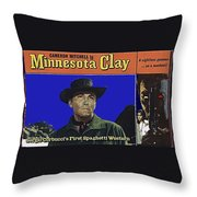 Film Homage Cameron Mitchell Minnesota Clay Lobby Card 1964-2013 Throw Pillow