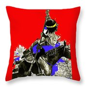 Film Homage Cameron Mitchell The High Chaparral Fighting Apache Publicity Photo Collage Throw Pillow