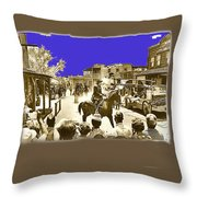 Film Homage Cameron Mitchell The High Chaparral Main Street Old Tucson Az Publicity Photo Throw Pillow