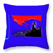 Film Homage Cary Grant Biplane Collage Publicity Photo North By Northwest 1959-2012 Throw Pillow