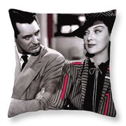 Film Homage Cary Grant Rosalind Russell Howard Hawks His Girl Friday 1940-2008 Throw Pillow