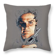 Film Homage Close-up James Cagney Angels With Dirty Faces 1939-2014 Throw Pillow