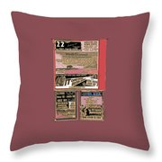 Film Homage Collage Drive-in Ads 1953 Tucson Arizona 2008 Throw Pillow