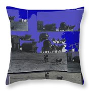 Film Homage Dirty Dingus Magee Collage Number 1 1970-2012 Mescal Arizona Throw Pillow