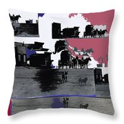 Film Homage Dirty Dingus Magee Collage Number 2 1970-2012 Mescal Arizona Throw Pillow
