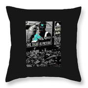 Film Homage Dolores Costello George O'brien Noah's Ark 1928 Ralph Steiner 1929-2008 Throw Pillow