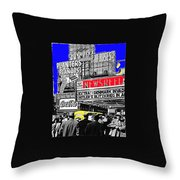 Film Homage Embassy Newsreel Theater 1940 Times Square New York City 2008 Throw Pillow