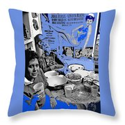 Film Homage Esther Williams Skirts Ahoy 1952 St. Patrick's Day Party Tucson Arizona 1985-2012 Throw Pillow