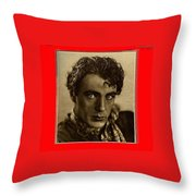 Film Homage Gary Cooper 1929-2009  Collage Color Added Throw Pillow