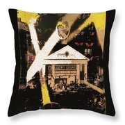 Film Homage Gone With The Wind Premiere Collage Loew's Grand Atlanta Georgia 1939-2008 Throw Pillow