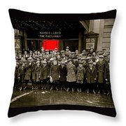 Film Homage Harold Lloyd The Freshman  City Orphans Ambassador Theater Washington D.c. 1925-2010  Throw Pillow