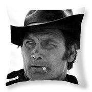 Film Homage Jack Palance Monte Walsh Set Old Tucson Arizona 1969 Throw Pillow