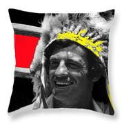 Film Homage Jean-paul Belmondo  Fake Indian Bonnet Love Is A Funny Thing  Old Tucson Az 1969-2008 Throw Pillow