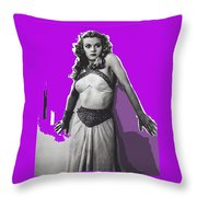 Film Homage Jean Rogers Dale Arden Flash Gordon Serial 1936 Publicity Photo Color Added 2008 Throw Pillow