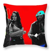 Film Homage Joe Namath C.c. And Company Golder Dam Near Tucson Arizona 1970-2009 Throw Pillow
