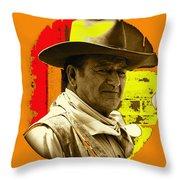 Film Homage John Wayne Andy Warhol Inspired Rio Lobo Variation 1 Old Tucson Arizona 1970-2009 Throw Pillow