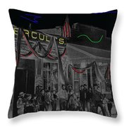 Film Homage John Wayne 'neath Arizona Skies 1934 California Powder Works Congress Tucson Az Ca.1900 Throw Pillow