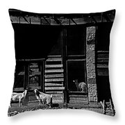 Film Homage King Vidor   Billy The Kid 1930 Wild Goats Ghost Town Billy The Kid Haunt White Oaks Nm  Throw Pillow