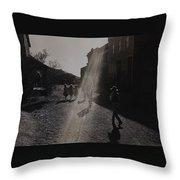 Film Homage Kirk Douglas Posse 1975  Kansas Street Old Tucson Arizona 1984 Throw Pillow