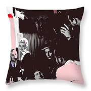 Film Homage Leslie Howard Bette Davis Of Human Bondage 1934 Publicity Photo 2008 Color Added Throw Pillow