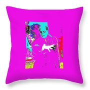 Film Homage Lon Chaney The Phantom Of The Opera 1925 Color Added 2008 Throw Pillow