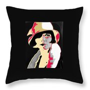 Film Homage Louise Brooks In Flapper Hat 1927-2013 Throw Pillow