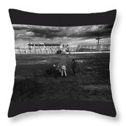Film Homage Nicholas Ray The Lusty Men 1952 Rko Tucson Rodeo 1983-2008 Throw Pillow