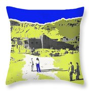 Film Homage Old Tucson Arizona In The Mid 1940's Throw Pillow