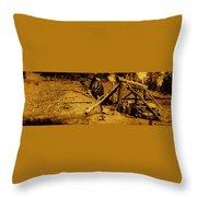 Film Homage Sergei Eisenstein Sutter's Gold 1930 Mining Sluice 1880's-2008 Throw Pillow