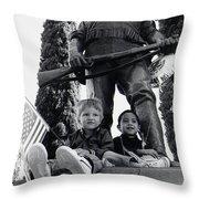 Film Homage Tearing Down The Spanish Flag 1898 Veteran's Day Parade 1984 Armory Park Tucson Throw Pillow