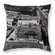 Film Homage Ted Degrazia Cine Plaza Theater  Blue W. Congress Tucson Arizona 1936-2008 Throw Pillow
