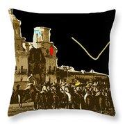 Film Homage The Gay Desperado Set San Xavier Mission Tucson Arizona 1936-2008 Throw Pillow