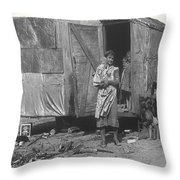 Film Homage The Grapes Of Wrath 1 1940 Family In Shack Perhaps Eloy Arizona 1940-2008 Throw Pillow
