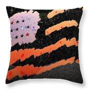Film Homage The Manchurian Candidate 1962 Flag Car Window Sacaton Arizona 2005 Throw Pillow